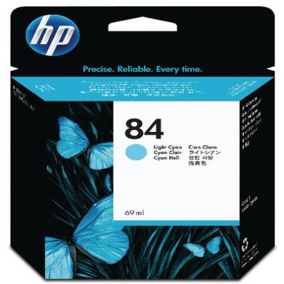 Genuine HP C5017A (#84) Light Cyan ink Cartridge (HP84LCOEM)