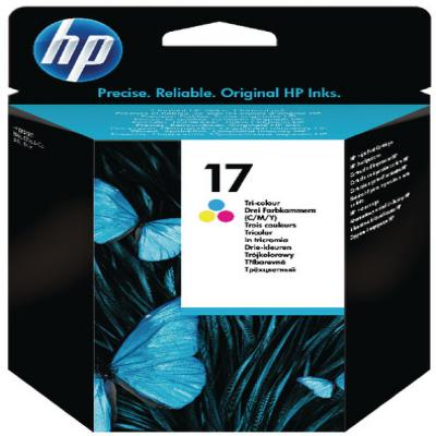 Genuine HP C6625AE (#17) Tri-ColourInk Cartridge (HP17CLROEM)
