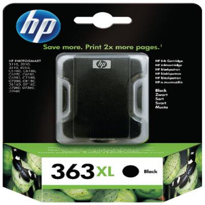 Genuine HP C8719EE (#363H) Black High Capacity Ink Cartridge (HP363XLBKHOEM)