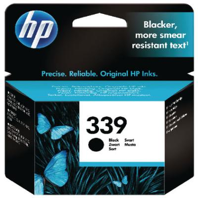 Genuine HP C8767EE (#339) Black Ink Cartridge (HP339BKOEM)