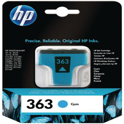 Genuine HP C8771EE (#363) Cyan Ink Cartridge (HP363COEM)