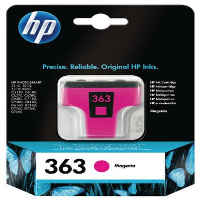 Genuine HP C8772EE (#363) Magenta Ink Cartridge (HP363MOEM)