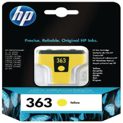 Genuine HP C8773EE (#363) Yellow Ink Cartridge (HP363YOEM)