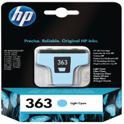 Genuine HP C8774EE (#363) Light Cyan Ink Cartridge (HP363LCOEM)
