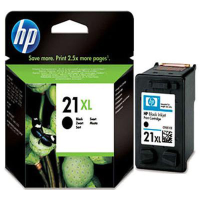 Genuine HP C9351CE (#21H) Black High Capacity Ink Cartridge (HP21XLBKHOEM)