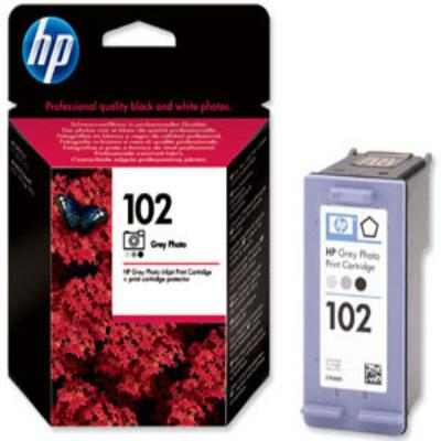 Genuine HP C9360A (#102) Photo Grey Ink Cartridge (HP102PGYOEM)