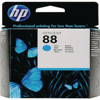 Genuine HP C9386AE (#88) Cyan Ink Cartridge (HP88COEM)