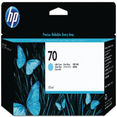Genuine HP C9390A (#70) Light Cyan Ink Cartridge (HP70LCOEM)