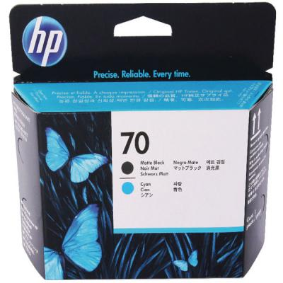 Genuine HP C9404A (#70) Matte Black/Cyan Printhead (HP70PHMBKCOEM)
