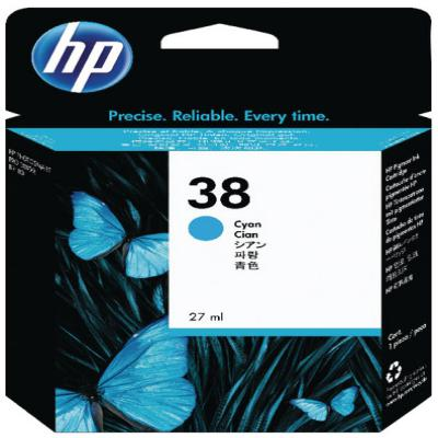 Genuine HP C9415A (#38) Cyan Ink Cartridge (HP38COEM)