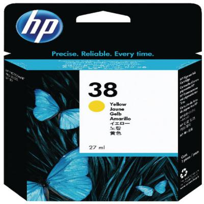 Genuine HP C9417A (#38Y) Yellow Ink Cartridge (HP38YOEM)
