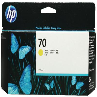 Genuine HP C9454A (#70) Yellow Ink Cartridge (HP70YOEM)