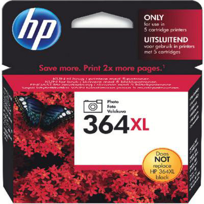 Genuine HP CB322EE (#364H) Photo Black High Capacity Ink Cartridge (HP364XLPBKHOEM)