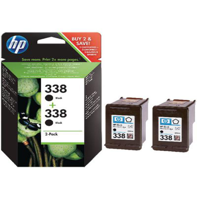 Genuine HP CB331EE (#338) BK Twin Pack Ink Cartridge (HP338BKTWINOEM)