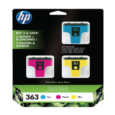 Genuine HP CB333E (#363) C/M/Y Multi Pack Ink Cartridge (HP363CMYMULTIOEM)