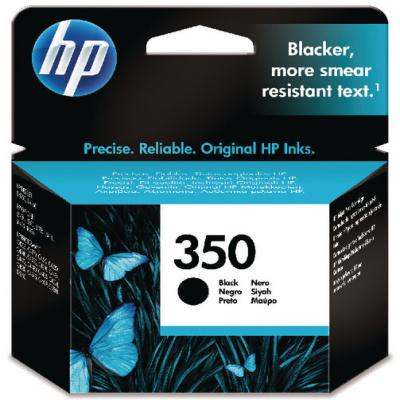 Genuine HP CB335E (#350) Black Ink Cartridge (HP350BKOEM)