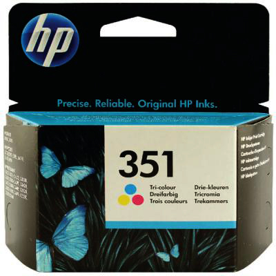 Genuine HP CB337E (#351) Tri-Colour Ink Cartridge (HP351CLROEM)