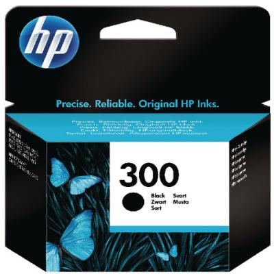 Genuine HP CC640EE (#300) Black Ink Cartridge (HP300BKOEM)