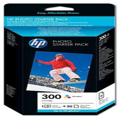 Genuine HP CG846EE (#300H) Tri-Colour and Photo Paper Pack Ink Cartridge (HP300CLRPHOTOOEM)