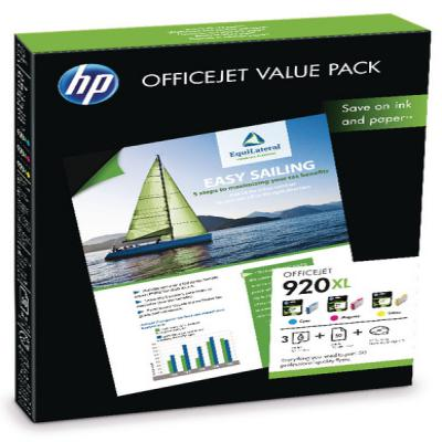 Genuine HP (#920H) C/M/Y/MPHOTO Paper High Capacity Value Pack Ink Cartridge (HP920XLVALUEOEM)