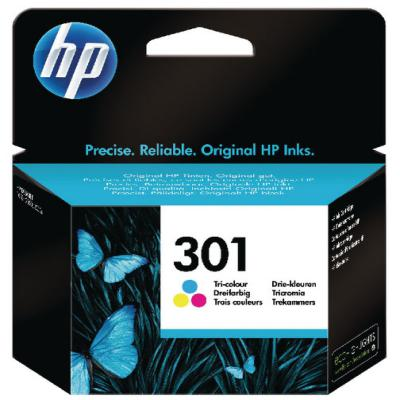 Genuine HP CH562EE (#301) Tri-Colour Ink Cartridge (HP301CLROEM)