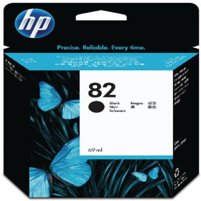 Genuine HP CH565A  (#82) Black Ink Cartridge (HP82BKOEM)