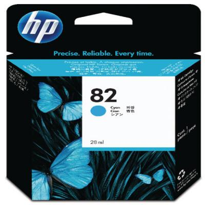 Genuine HP CH566A  (#82) Cyan Ink Cartridge (HP82COEM)