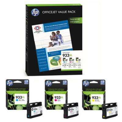 Genuine HP CR711AE (#933H) C/M/Y High Capacity Multi Pack Ink Cartridge (HP933XLYHOEM)