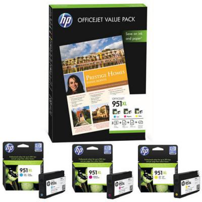 Genuine HP CR712AE (#951H) C/M/Y High Capacity Ink Cartridge (HP951XLCMYHOEM)
