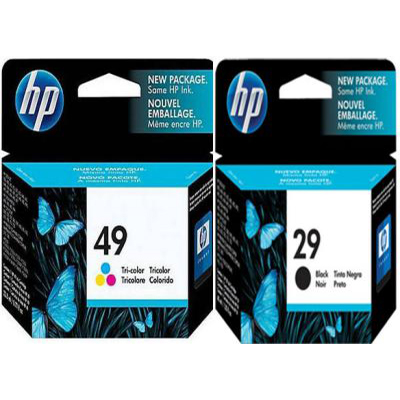 Genuine HP (#29) Black HP (#49) Tri-Colour ink Cartridge (HP29BKHP49CLRTWINOEM)