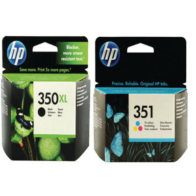 Genuine HP (350H) Black HP (#351H) Tri-Colour High Capacity Multi Pack Ink Cartridge (HP350BKHHP351CLRHMULTIOEM)