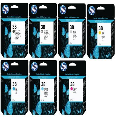 Genuine HP (#38) MBK/PBK/GY/C/LC/M/LM/Y Multi Pack Ink Cartridge (HP38MBKPBKGYCLCMLMYOEM)