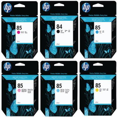 Genuine HP (#84H) Black HP (#85) C/M/Y/LC/LM Multi Pack ink Cartridge (HP84BKHHP85CMYLCLMOEM)