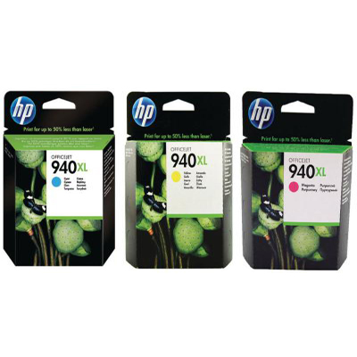 Genuine HP (#940H) C/M/Y/Photo Paper High Capacity Multi Pack Ink Cartridge (HP940XLCMYPHOTOOEM)