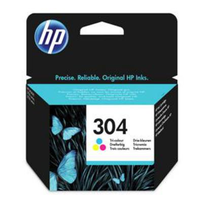Genuine HP N9K05AE (#304) Tri-Color Ink Cartridge (HP304CLROEM)