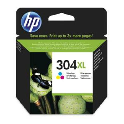 Genuine HP N9K07AE (#304XL) Tri-Color High Capacity Ink Cartridge (HP304XLCLROEM)