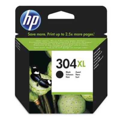 Genuine HP N9K08AE (#304XL) Black High Capacity Ink Cartridge (HP304XLTRICLROEM)
