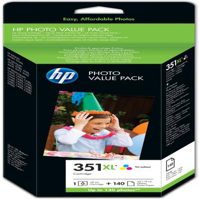 Genuine HP (#351) Photo Value Ink Cartridge (HP351XLPHOTOOEM)