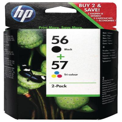 Genuine HP SA342AE (#56) Black HP (#57) Tri-Colour Multi Pack Ink Cartridge (HP56BKHP57CLRMULTIOEM)