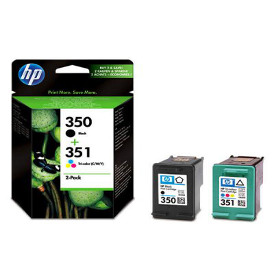 Genuine HP SD412EE (350) Black HP (#351) Tri-Colour Multi Pack Ink Cartridge (HP350BKHP351CLRMULTIOEM)