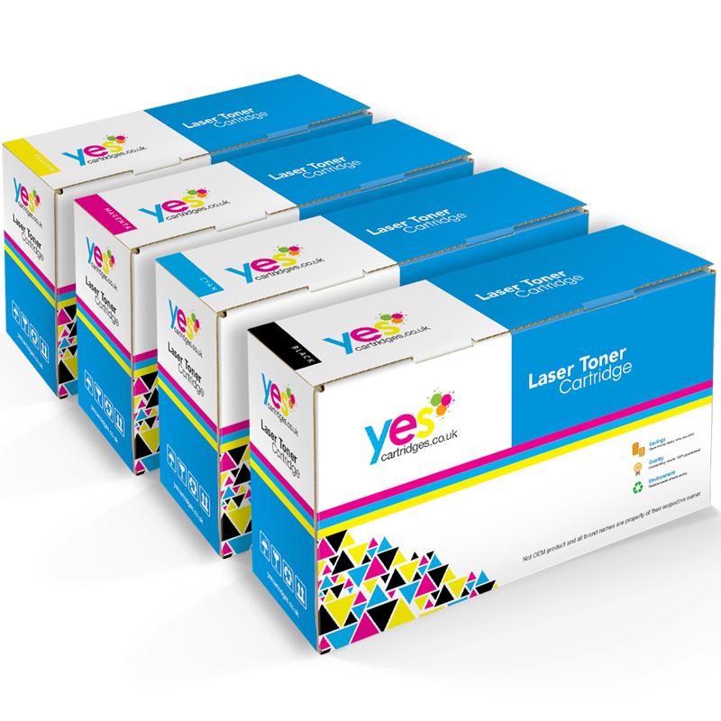Compatible Brother TN-241 Black & TN245 C/M/Y Multipack of Toner Cartridges (TN241BKCMYMULTICOM)