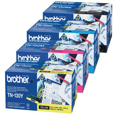 Genuine Brother TN-130 BK/C/M/Y Multi Pack Toner Cartridge (TN130BKCMYMULTIOEM)