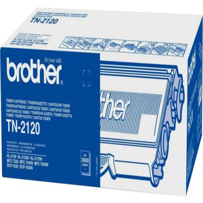 Genuine Brother TN2120 Black High Capacity Toner Cartridge (TN2120BKHOEM)