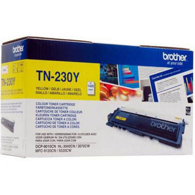 Genuine Brother TN-230Y Yellow Toner Cartridge (TN230YOEM)