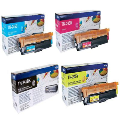 Genuine Brother TN-241 Black TN-245 C/M/Y Multi Pack High Capacity Toner Cartridge (TN241BKTN245CMYHMULTIOEM)