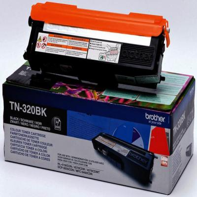 Genuine Brother TN-320BK Black Toner Cartridge (TN320BKOEM)