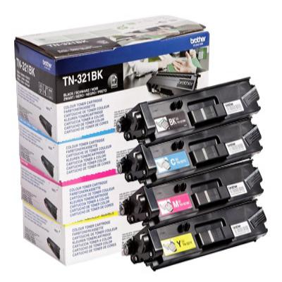 Genuine Brother TN-321 BK/C/M/Y Multi Pack Toner Cartridge (TN321BKCMYMULTIOEM)