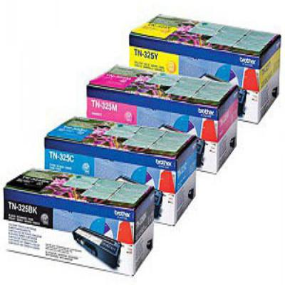 Genuine Brother TN325 BK/C/M/Y Multi Pack High Capacity Multi Pack Toner Cartridge (TN325BKCMYMULTIOEM)