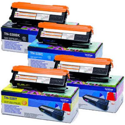 Genuine Brother TN-328 BK/C/M/Y Multi Pack Toner Cartridge (TN328BKCMYMULTIOEM)