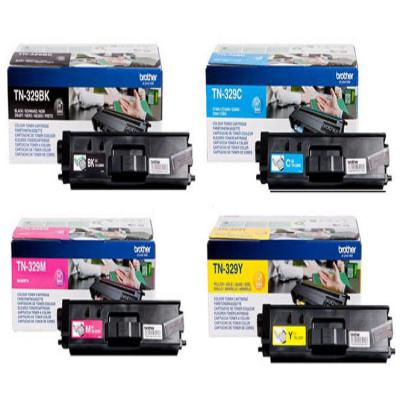 Genuine Brother TN-329 BK/C/M/Y Multi Pack Toner Cartridge (TN329BKCMYHMULTIOEM)